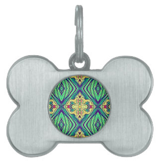 Modern Chic Pastel Pattern Pet Tag