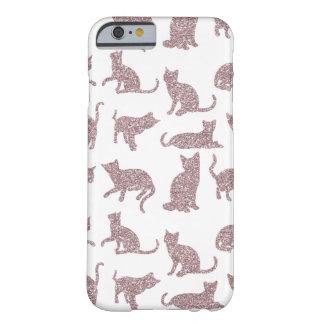 Modern & Chic Purple Sparkle Cats iPhone 6/6s Case