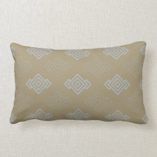 Modern chic sand grey chinoiserie geometric pillow