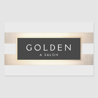 Modern Chic Striped FAUX Gold Foil and Black Sticker