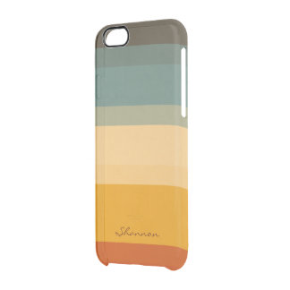 Modern Chic Stripes Clear iPhone 6 case