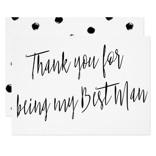 "Modern Chic ""Thank you for being my best man"" Card"