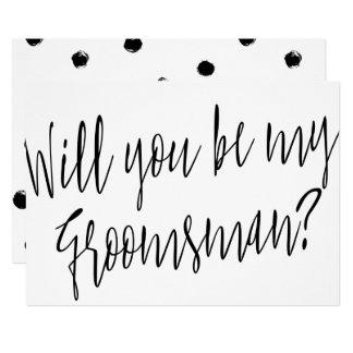 "Modern Chic ""Will you be my groomsman"" Card"