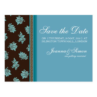 Modern Chintz Save the Date Postcards