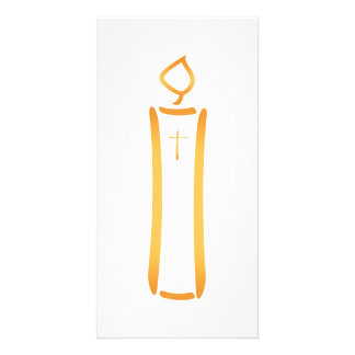 Modern Christian Candle Photo Cards