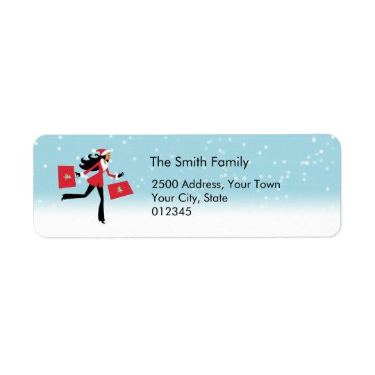 Modern Christmas Address Label