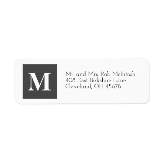 Modern Christmas Cubes Holiday Label Grey Return Address Label