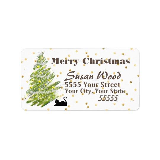 Modern Christmas Design Return Address Labels