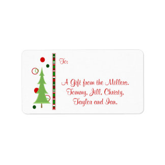 Modern Christmas Gift Tag