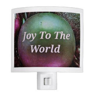 Modern Christmas Green Rose Joy To The World Night Lites