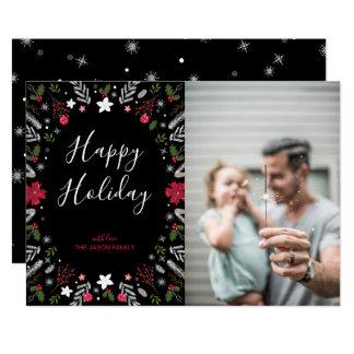 Modern Christmas, Holiday Photo Greeting Card