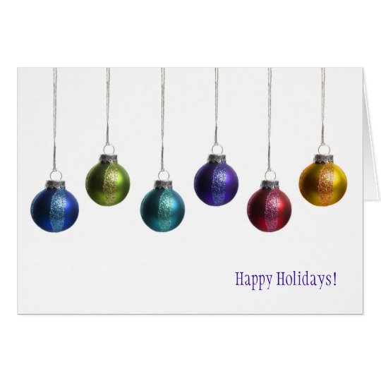 Modern Christmas Ornament Happy Holiday Card