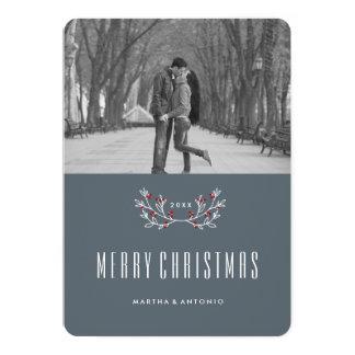 "Modern Christmas Photo Cards 5"" X 7"" Invitation Card"