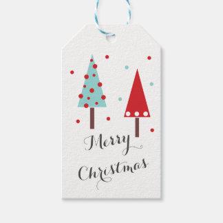 Modern Christmas Tree Design Gift Tags