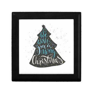Modern Christmas Tree - Hand Lettering Print Gift Box