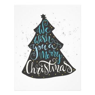 Modern Christmas Tree - Hand Lettering Print Letterhead
