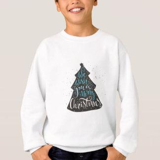 Modern Christmas Tree - Hand Lettering Print Sweatshirt