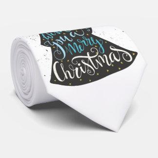 Modern Christmas Tree - Hand Lettering Print Tie