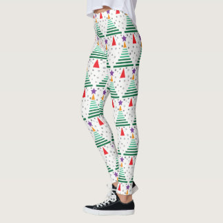 Modern Christmas Tree Leggings