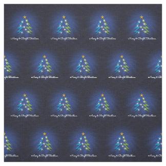 Modern Christmas Tree | Merry Christmas Fabric