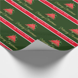 Modern Christmas tree merry christmas Wrapping Paper