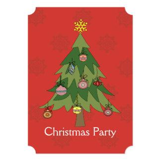 Modern Christmas tree party Invitation