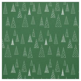 Modern Christmas Tree Pattern Fabric