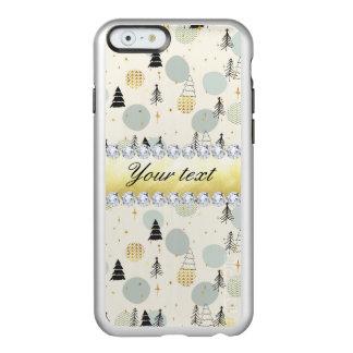 Modern Christmas Trees Snow Stars Diamonds Incipio Feather® Shine iPhone 6 Case