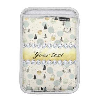 Modern Christmas Trees Snow Stars Diamonds iPad Mini Sleeve