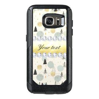 Modern Christmas Trees Snow Stars Diamonds OtterBox Samsung Galaxy S7 Case