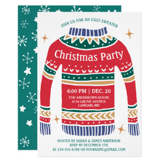 Ugly Christmas Jumper Invitations