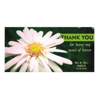 Modern Chrysanthemum Bridesmaid Thank You Card Photo Card Template