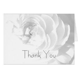 Modern Chrysanthemum/Peony - Thank You Card