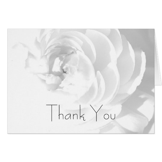 Modern Chrysanthemum/Peony - Thank You Card