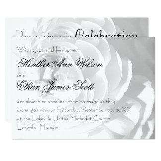 Modern Chrysanthemum/Peony Wedding - Announcement