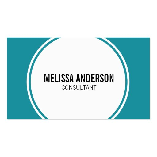 Modern Circle Minimalistic Teal Business Cards Business Card Templates