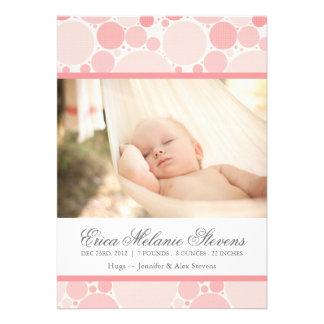 Modern Circles Birth Announcement Photo card