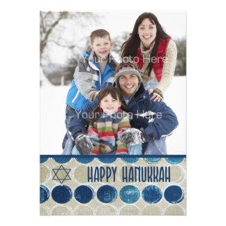 Modern Circles Happy Hanukkah Photo Card