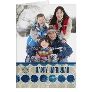 Modern Circles Happy Hanukkah Photo Greeting Cards