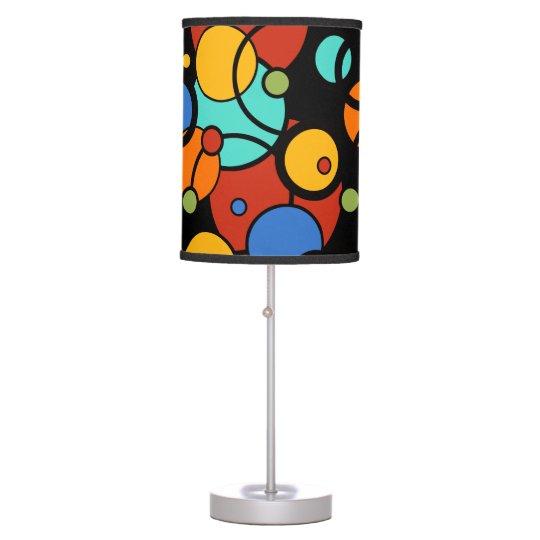 Modern Circles Pop Art Dot Print Colourful Lamp