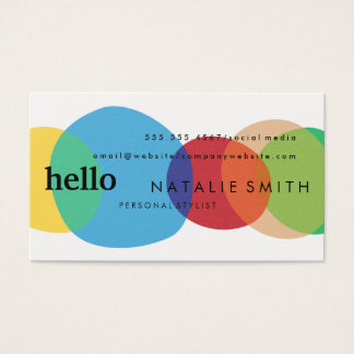 Modern Circular Shapes with Mixed Text Business Card