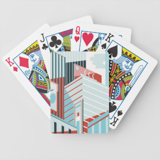 Modern City Bicycle Playing Cards
