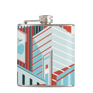 Modern City Hip Flask