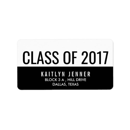 Modern Class Of 2017 Typography Black And White