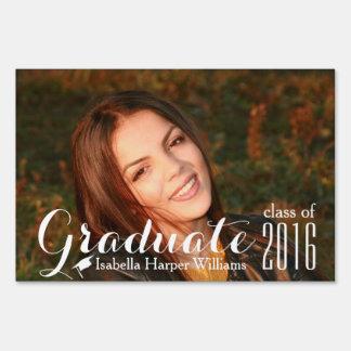 Modern Class of 2018 Graduation Photo Sign