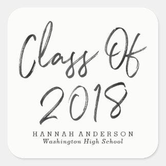 Modern Class of 2018   Graduation Square Sticker