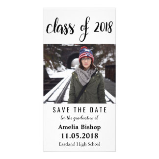 Modern Class Of 2018 Typography Save The Date Card