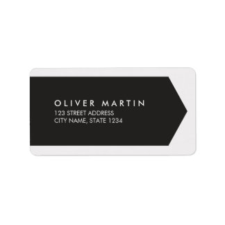Modern Classic Dark and Light Grey Address Labels