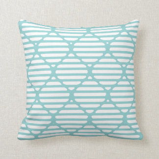 Modern Classic Lattice Hour Glass Throw Pillow