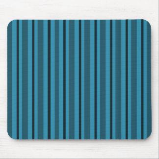 Modern-Classic-Stripe's-Blue--Black_Unisex Mouse Pad